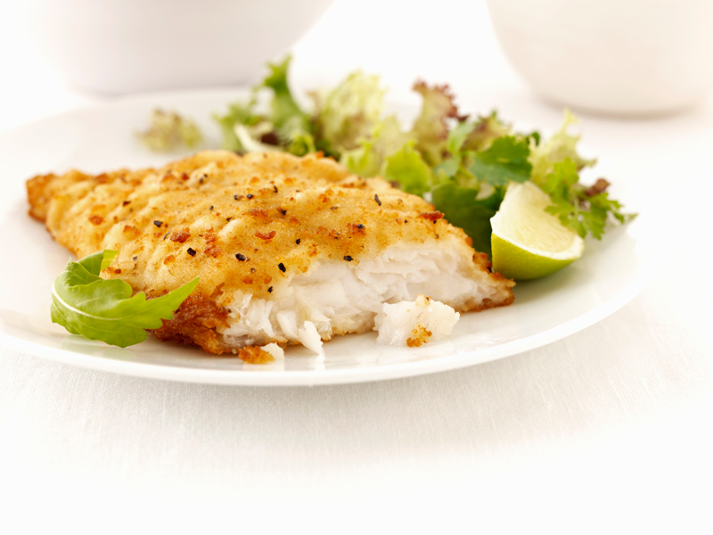 Filetti di pesce impanati