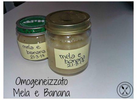 Omogeneizzato mela e banana fatto in casa
