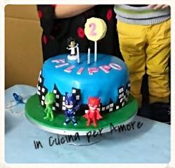 Torta Di Compleanno Pj Mask In Cucina Per Amore