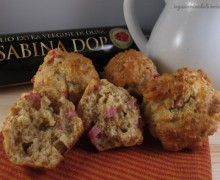 Muffin cotto e scamorza