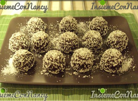 Praline al cioccolato rotolate nel cocco