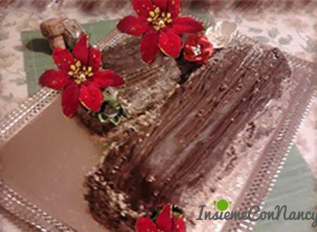 Tronchetto al cioccolato e torrone
