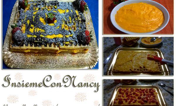 Torta Waffel con Fragole