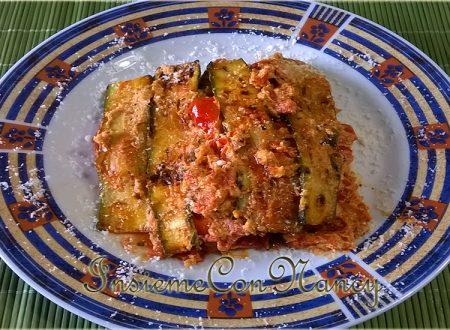 Zucchine con crema al Tofu