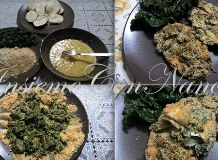 Provola impanata con spinaci