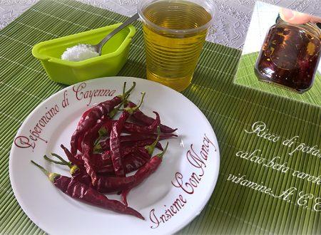Olio piccante di peperoncino Cayenna