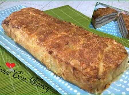 Plumcake salato con ricotta prosciutto cotto e formaggio