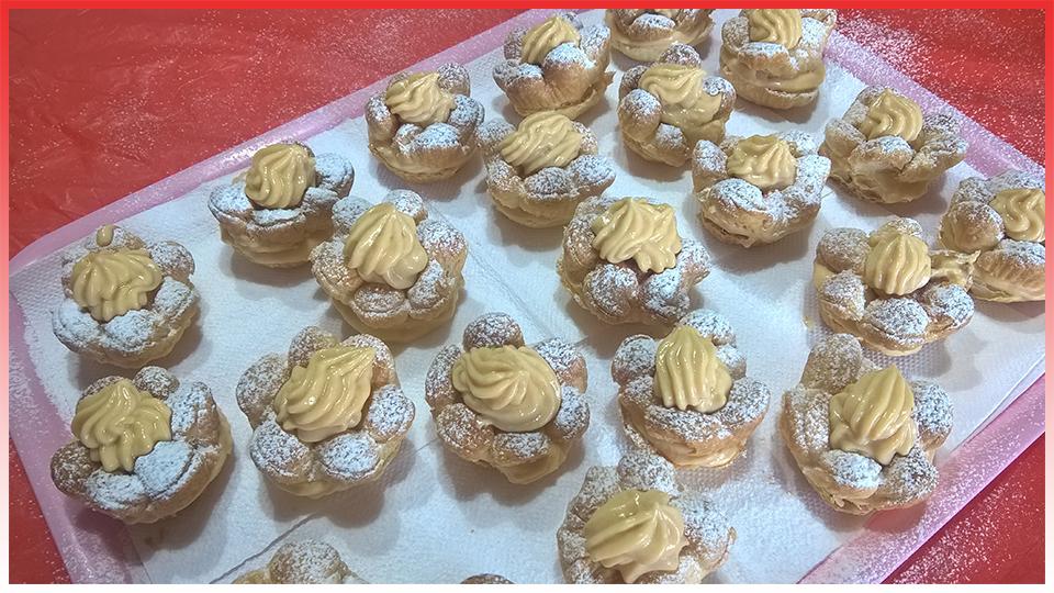 Fiorellini di Pasta Sfoglia farciti