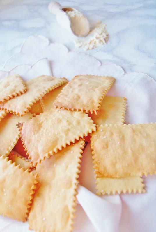 Crackers con farina di riso