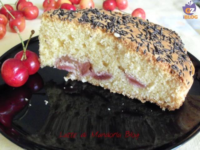 Torta ciliege e cioccolato fondente