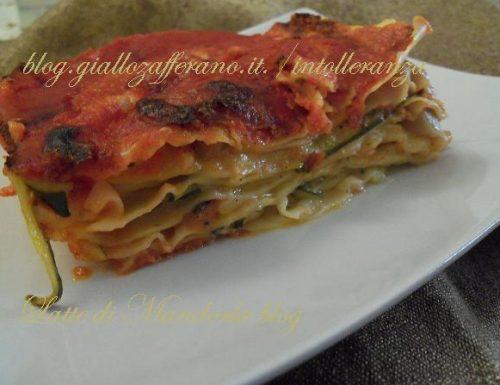 Lasagna con zucchine e besciamella senza lattosio