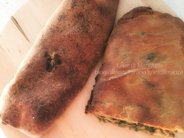 PIZZA RIPIENA CON SCAROLA E OLIVE