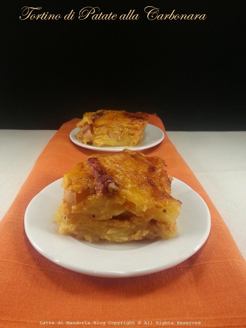 Parmigiana di patate alla carbonara senza besciamella