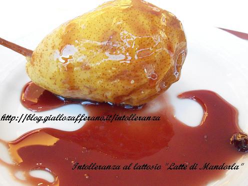 Pera caramellata al forno con vin cotto | Ricetta Dessert di frutta