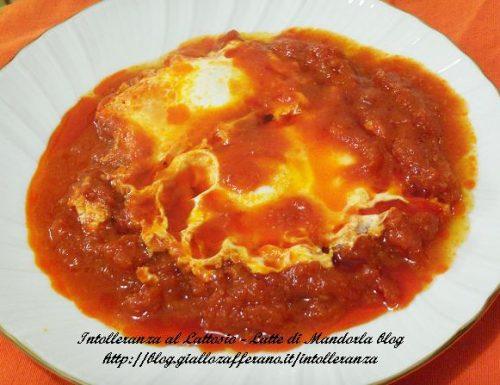 Uova al pomodoro e formaggio    Ricetta a basso contenuto di lattosio