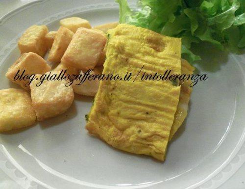 Rotolo di frittata con rucola ed emmentaler | Ricetta a basso contenuto di lattosio