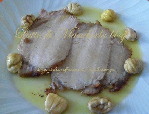 Carre' di maiale con le castagne
