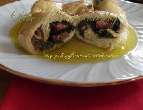 Involtini di pollo con noci e pomodori secchi sott'olio