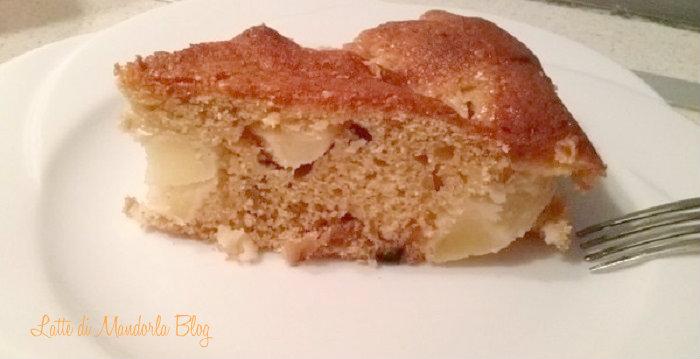 Torta di mele con farina di farro e di riso