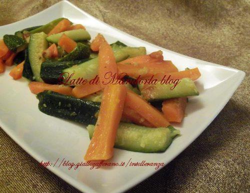 Carote e zucchine con olio al timo