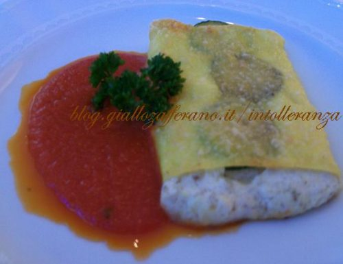 Lasagna con la cernia e zucchine