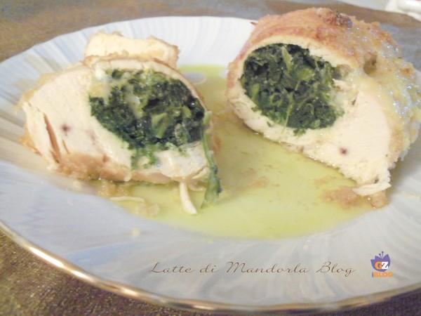 Petto di Pollo ripieno agli spinaci con formaggio