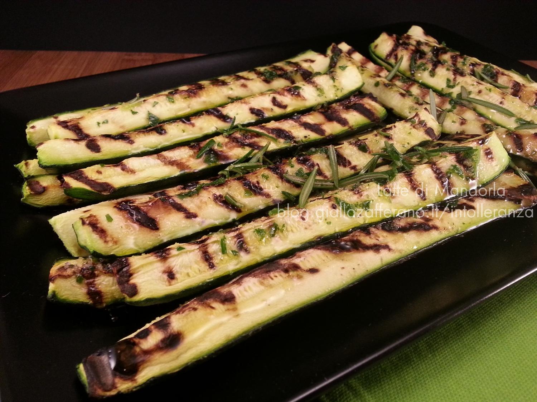 Zucchine grigliate al parmigiano