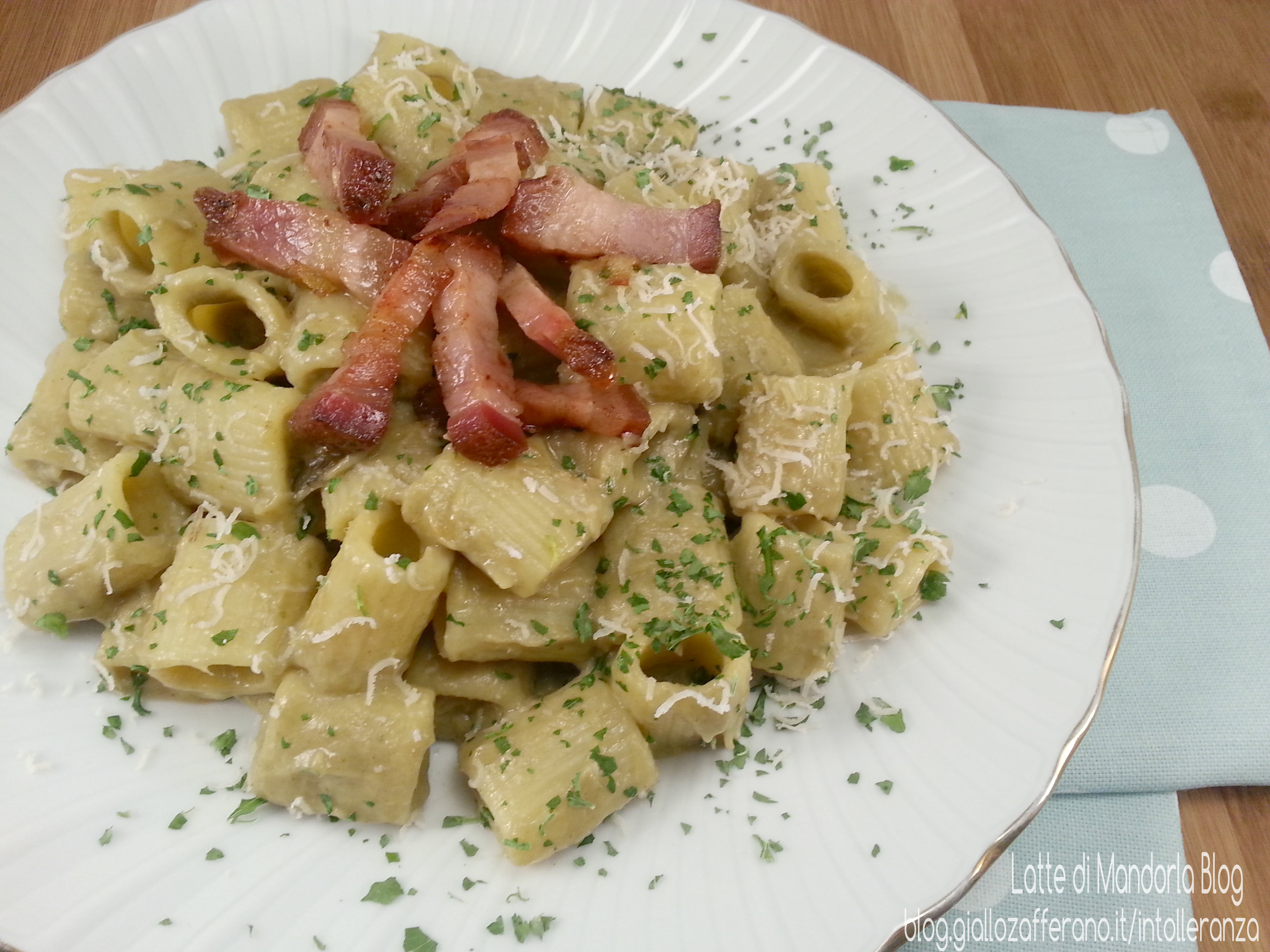 Pasta carciofi e speck ricetta