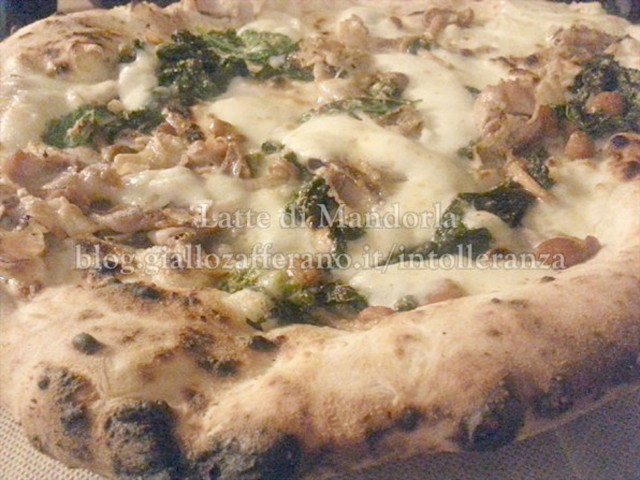 PIZZA CON BROCCOLI E PORCHETTA