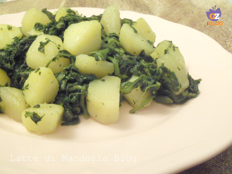 patate con bietole ripassate in padella - Cucinare Bieta