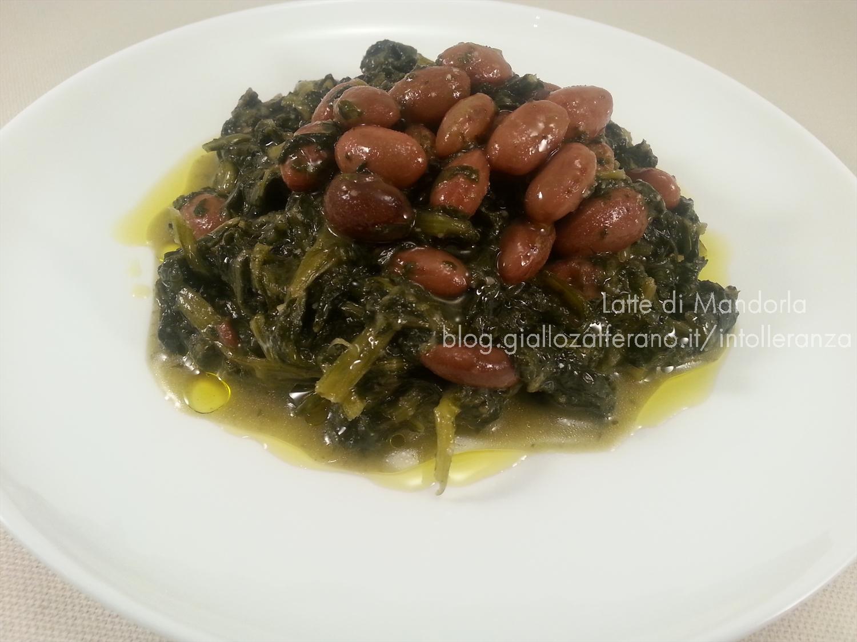 Minestra di spinaci e fagioli rossi