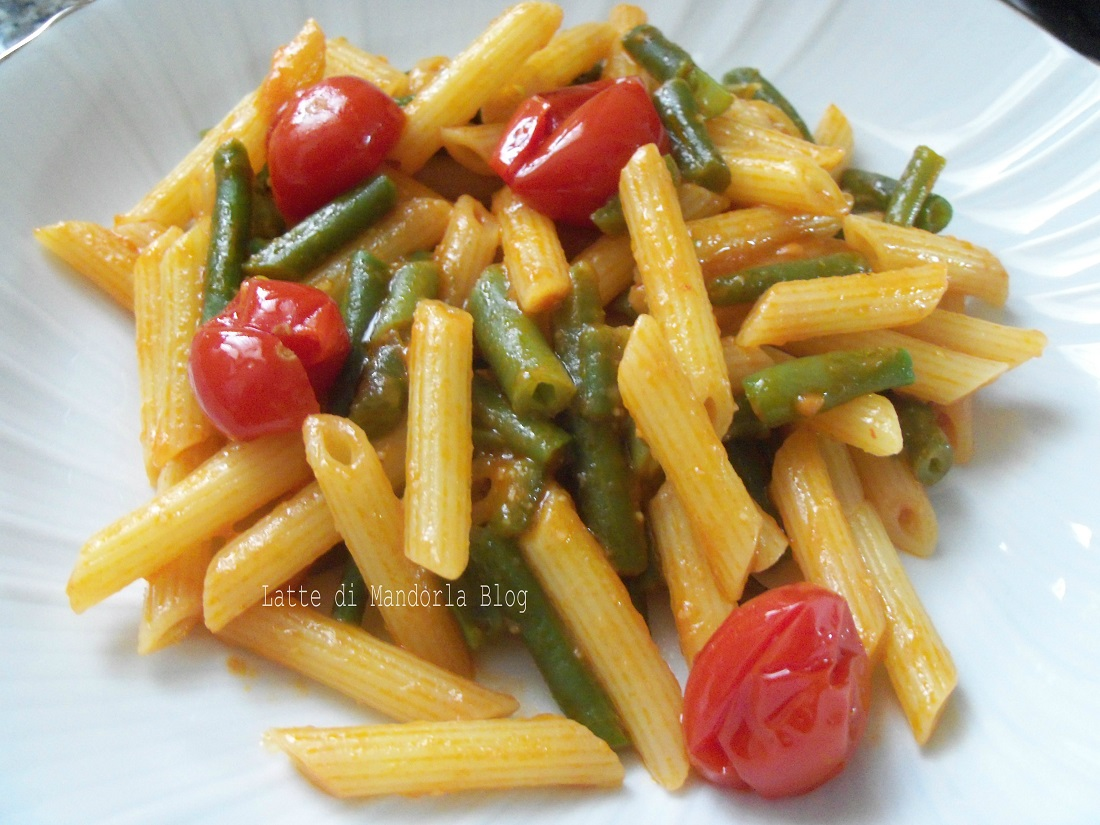 Pasta con fagiolini alla pugliese latte di mandorla blog for Pasta ricette