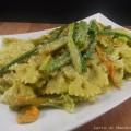 Pasta con pesto di zucchine e fiori di zucca -Latte di Mandorla Blog Ricette senza Lattosio - Copyright © All Rights Reserved