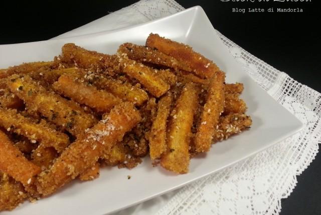 Stick croccanti di zucca al forno ai semi di sesamo