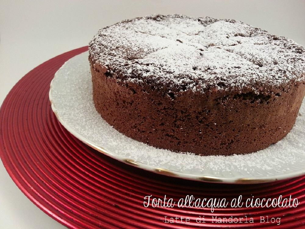 Torta Al Cioccolato Con Acqua.Torta All Acqua Al Cioccolato Senza Uova E Burro