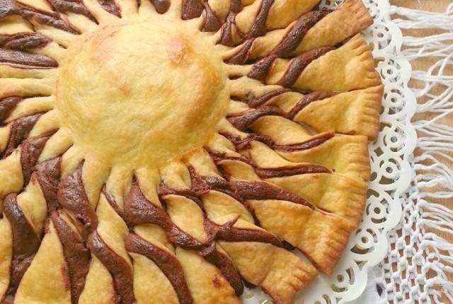 Torta Fiore di pasta sfoglia (Girasole)