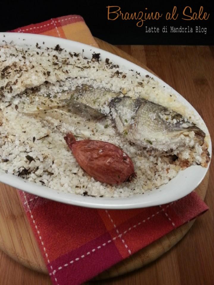 Branzino al sale con scalogno latte di mandorla blog for Cucinare branzino 5 kg