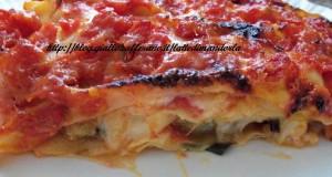 Lasagna di melanzane alla parmigiana, senza latticini