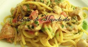 Pasta con canocchie al pesto di basilico