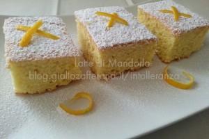 Torta all'arancia dolce senza latte e burro