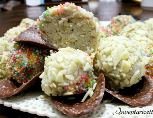 Tartufi al cioccolato bianco: Yociok al mirtillo