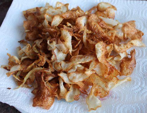 Chips di chayote alla cipolla