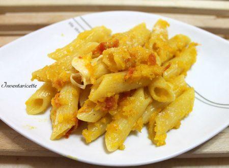 Pasta con peperoni provola e pomodorini