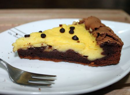 Torta brownie con crema stregata