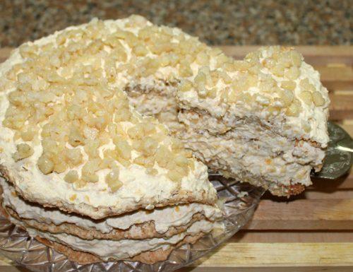 Crema al cioccolato bianco con rooibos caramellato e vaniglia