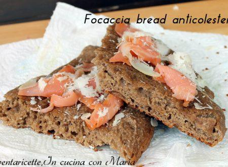 Focaccia bread anti-colesterolo, un pieno di omega 3