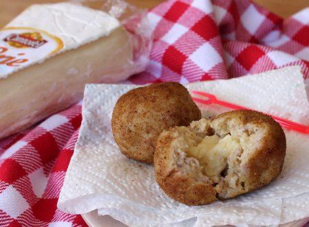 Crocchette di plumcake salato con cotto e cuore di brie