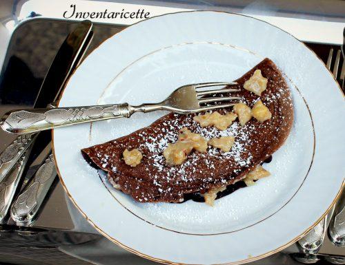 Crepe al cioccolato con crema di castagne
