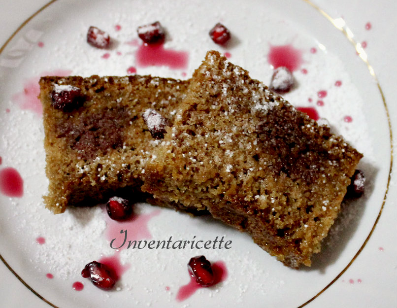 Flufflosa al melograno, Chiffon cake al melograno