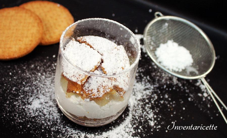 Glass alla robiola torronata e pere vanigliate - Dessert torrone
